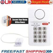Security Keypad Door Alarm System With Panic Button For Home Shed Garage Caravan