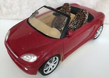 Barbie My Scene My Ride Red Convertible Car with Leopard Print Seats 2003 Rare