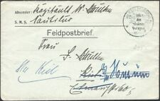 GERMANY, 1916. Feldpost Cover Marine Schiffspost, MSP 163, SMS Nautilus