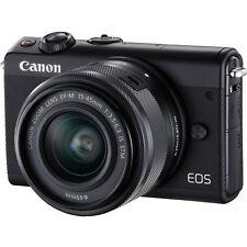 CANON EOS M100 Kit Objektiv 15-45mm f/6.3, 7.5 Systemkamera 24.2MP NEU OVP Black