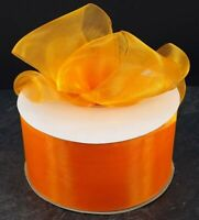 Halloween, Woven Edge Organza Sheer Chiffon  Ribbon 3 Inch wide , 1m