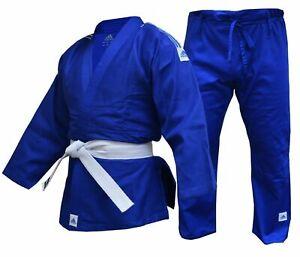 adidas Club Judo Suit 350g Uniform Blue Student Adult Gi Free White Belt J350