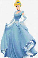 Cinderella Design 1 Counted Cross Stitch Kit, Disney, Cartoon Characters Tv/Film
