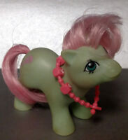 Vintage Hasbro 1985 G1 My Little Pony Baby Cuddles + Necklace Hong Kong Rare
