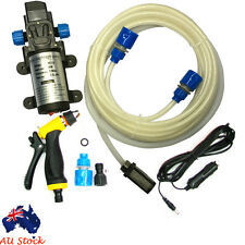 80W DC12V Water Pump Kit High Pressure Washer Marine Deck Car Campervan Sprayer