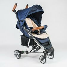 Roma Rizzo Stroller Buggy Pushchair in Navy + Raincover, Seat Liner, Cup Holder