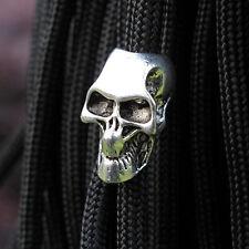 5PCS Tibetan Antique Silver Skull DIY Paracord Bracelet Jewelry Beads