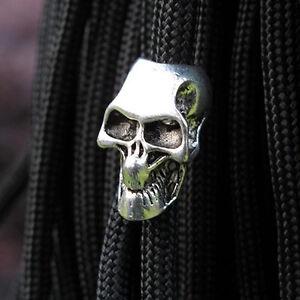 5PCS Paracord Beads Metal Charms Skull Bracelet Accessories Survival DIY Pendant