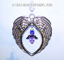 Angel Wings Suncatcher m/w Swarovski Purple Angel Car Charm Lilli Heart Designs