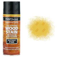4 x 400ml All Purpose Antique Pine Wood Stain Spray Paint Interior/Exterior