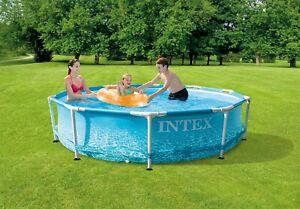 Intex 28208 Metal Frame Pool 305 x 76 cm mit Filterpumpe