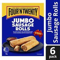 Four'N Twenty Frozen Jumbo Sausage Rolls 6 Pieces 700g