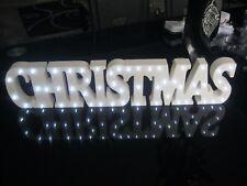 STOCK GIOCO su NUOVO solido in legno 53 Luci LED Segno Di Natale