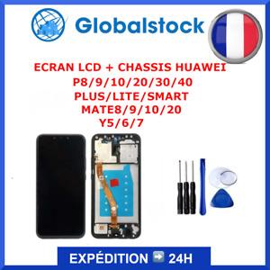 ECRAN LCD + CHASSIS HUAWEI P8/9/10/20/30/40 PLUS/LITE/SMART MATE8/9/10/20 Y5/6/7