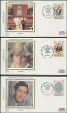 VANUATU 1981 ROYAL WEDDING SILK COVERS PRINCESS DIANA (ID:185/D9988)