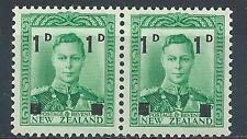 New Zealand 1941 Sc# 242 George new value pair MNH