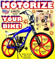 COMPLETE 2-STROKE 66cc/80cc MOTORIZED BIKE KIT FOR YOUR BICYCLE DIY NEW POWER