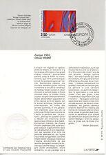 FDC / PREMIER JOUR / ART / TABLEAU / OLIVIER DEBRE STRASBOURG 1993