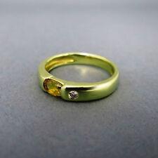 Runde Echtschmuck-Ringe im Band-Stil mit Citrin-Hauptstein