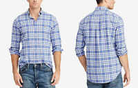 Polo Ralph Lauren Men's Classic Fit Plaid Oxford Shirt, Size L, Blue ,MSRP $89
