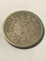 1868 Shield Nickel G #18479