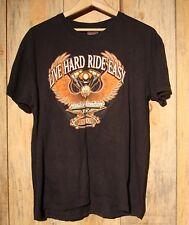 Harley Davidson Cafe T-Shirt Large Las Vegas Bald Eagle Nevada Black +
