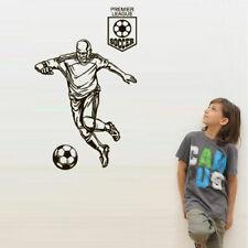 Wall Decal Football ball Player Kicking Soccer Sport goalkeeper league M1710
