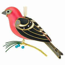 Pine Grosbeak 2016 Hallmark The Beauty of Birds Christmas Ornament 12th Bird