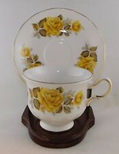 Queen Anne China YELLOW ROSES Cup & Saucer #8616