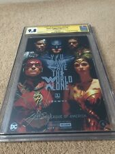 Justice League Of America #15  NYCC 2017 CGC 9.8 Sign By Ezra, Jason & Ray