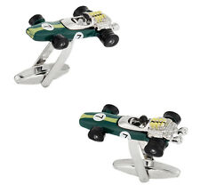 Indy Racecar Cufflinks in Green Direct from Cuff-Daddy