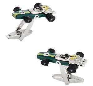 Indy Racecar Cufflinks in Green Direct from Cuff-Daddy