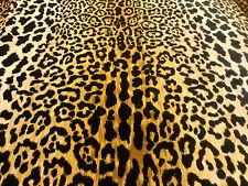 Leopard Print Cotton Velvet Fabric Braemore Jamil Natural Animal Skin Fur -140cm