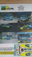 DECALS 1/24 REF 894 SUBARU IMPREZA WRC SARRAZIN RALLYE MONTE CARLO 2005 RALLY