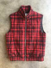 EUC Saint Laurent Paris Red Plaid Padded Vest sz F36 4 Wool FW15