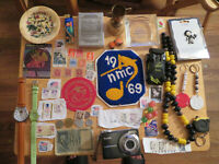 Junk Drawer lot old marbles old coins watches stamps lot vintage Ashtray estate