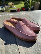 NEW LADIES LEATHER WEEJUNS PINK SLIP ON LOAFERS, SIZE 3, EXCELLENT CONDITION!