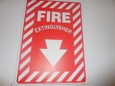 NEW PRE OWNED ACCUFORM FIRE EXTINGUISHER  SIGNS  - 25 TOTAL - PF CARDSTOCK