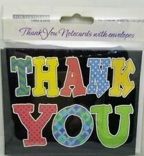 For Arts Sake Cards 10pk Thank You Cards Smiley Balloons,Cute Owl,Peacock,Thanks
