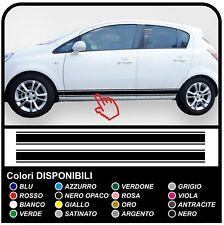 OPEL Corsa adesivi laterali Strisce Doppie Fasce laterali Adesive per Opel Corsa