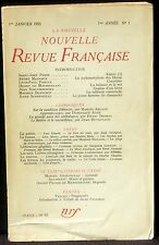 La Nouvelle revue française 1er janvier 1953  TBE