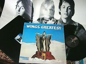 WINGS -     Wings Greatest,     ORIGINAL 1978 UK LP + POSTER / inner... EX