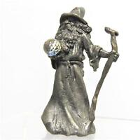 Standing Wizard with Staff and Crystal Ball Magic Fantasy Warlock