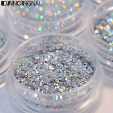 5Pot/Set Silver Flake Chunky Glitter Nail Face Eye Shadow Body Manicure Decor
