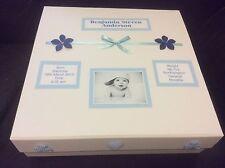 Large Keepsake Memory Box, Baby Boy, Girl, Photo Personalised Christening Gift