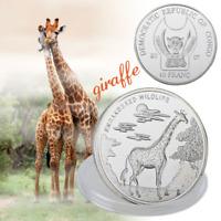 WR Congo 10 Franc Africa Wildlife Giraffe Animal SILVER Coin Collectibles Gifts