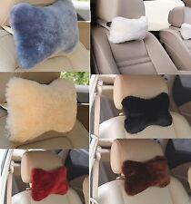 Genuine Sheepskin Wool Car Seat Neck Rest Pillow Cushion Headrest ZH48