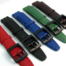 Genuine Leather Replacement Watch Strap to Fit Standard Swatch Watches 17mm D028