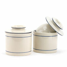 Butter Crock Keeper, French Stoneware Antique Butter Crock With Water(pack Of 2)