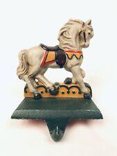 Midwest Horse Carousel Series Cast Iron Stocking Hanger Holder Hook VTG